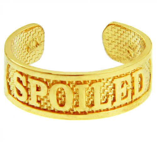 """""""SPOILED"""" Yellow Gold Toe Ring"""