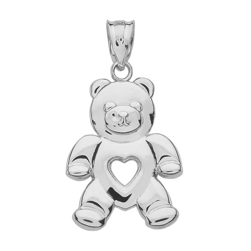 Sterling silver love bear pendant necklace aloadofball Images