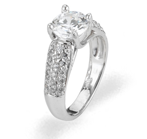 Ladies Cubic Zirconia Ring - The Winn Diamento