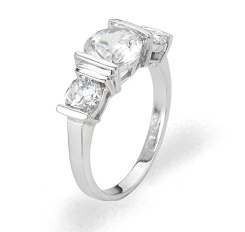 Ladies Cubic Zirconia Ring - The Sara Diamento II