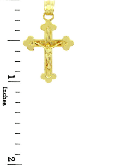Yellow Gold Crucifix Pendant The Blessed Trinity Crucifix