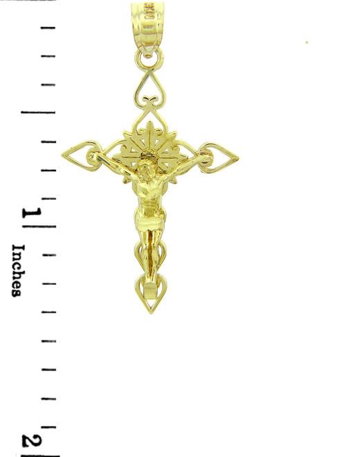 Gold Crucifix Pendant The Good Shepherd Crucifix