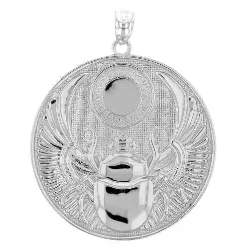 Sterling silver ancient egyptian scarab beetle pendant necklace aloadofball Choice Image