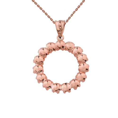 Elegant reversible diamond circle pendant necklace in rose gold 14k elegant reversible diamond circle pendant necklace in rose gold aloadofball Gallery