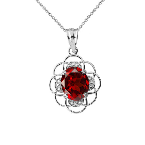 Flower of life personalized birthstone pendant necklace in whitegold flower of life personalized birthstone pendant necklace in white gold aloadofball Images