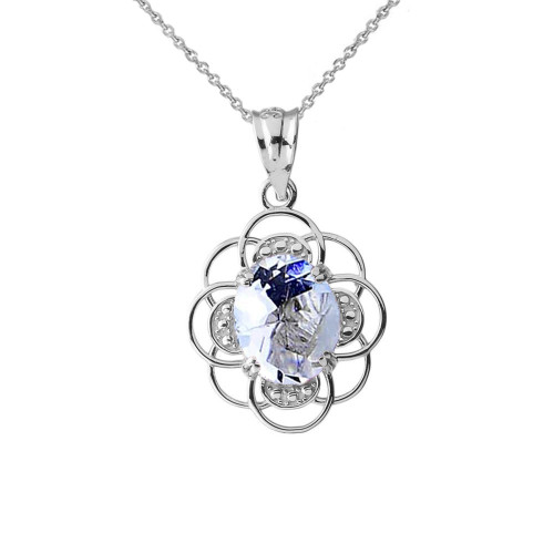 Flower of life personalized birthstone pendant necklace in sterling flower of life personalized birthstone pendant necklace in sterling silver aloadofball Images
