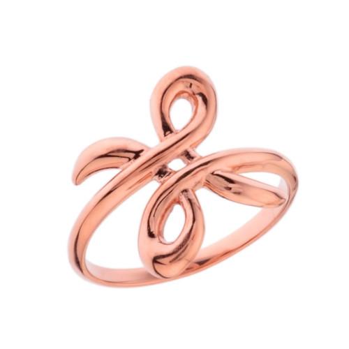 Zibu Friendship Symbol Ring in Rose Gold