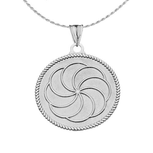 Duxovand Armenian Eternity Symbol Pendant Necklace In Sterling Silver
