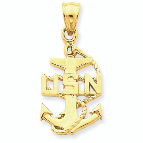 Gold Usa Navy Anchor Symbol