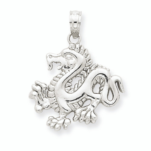 14k white gold dragon pendant aloadofball Choice Image