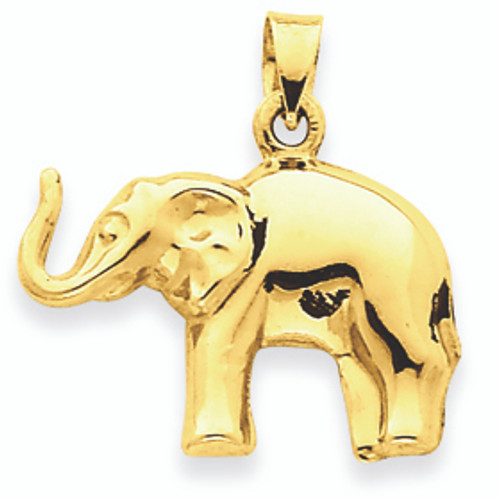 14k gold elephantpendant 14k gold elephant pendant aloadofball Images