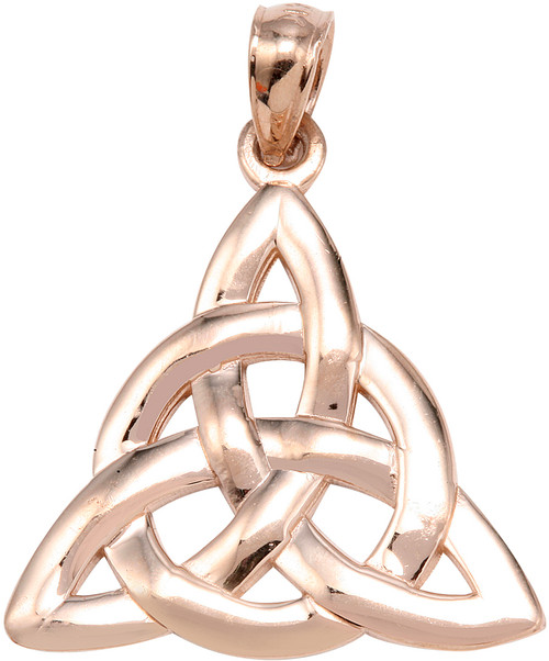 Rose gold trinity knot pendant factory direct jewelry rose gold trinity knot pendant aloadofball Image collections