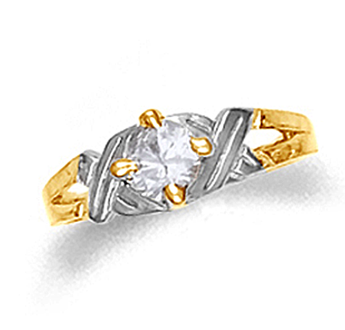 Gold Baby Hugs and Kisses Ring
