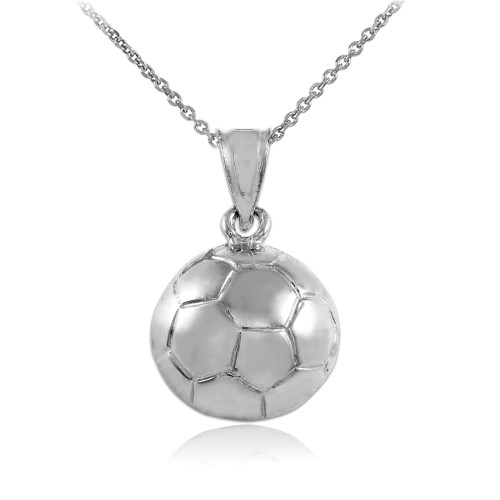 Soccer ball white gold sports charm pendant necklace gold sports soccer ball white gold sports charm pendant necklace aloadofball Images