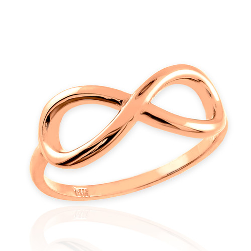 Polished Rose Gold Infinity Ring