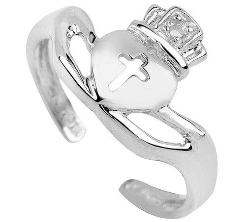 Silver Claddagh Toe Ring