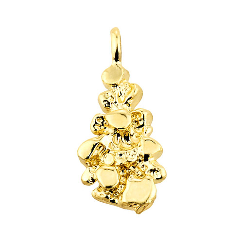 Solid yellow gold nugget pendant aloadofball Images