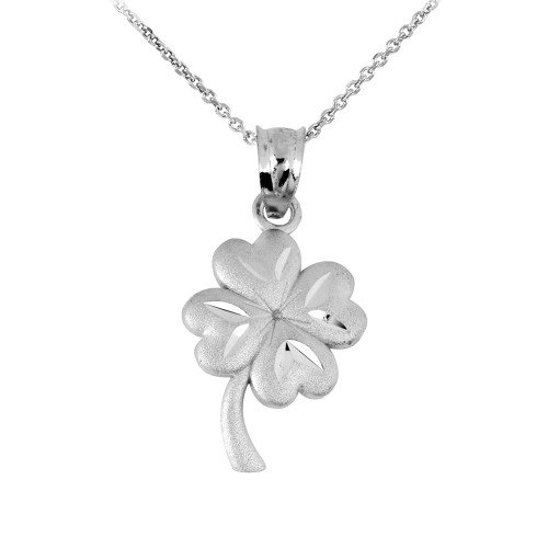 Clover Leaf Silver Pendant Necklace