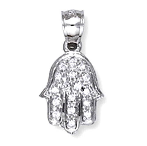 magnetic product zirconia cubic with hamsa locket jumbo silver in pendant