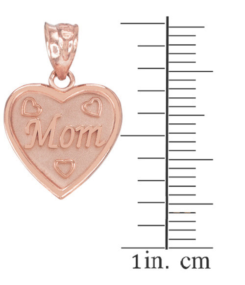 Rose gold mom heart pendant necklace mozeypictures Image collections