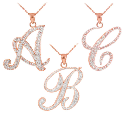 pendant diamond b gold full asp initial set products