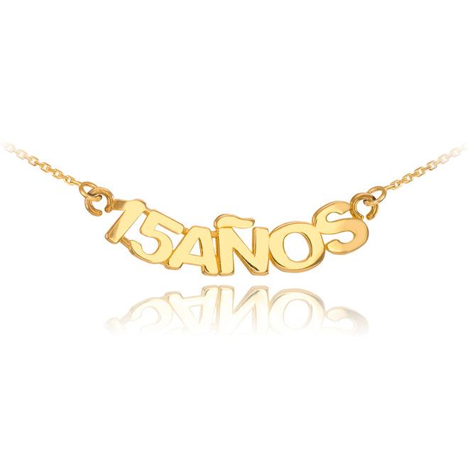 14K Yellow Gold 15 Años Necklace