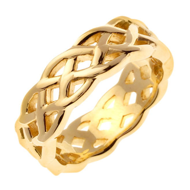 18k Gold Celtic Knot Wedding Band