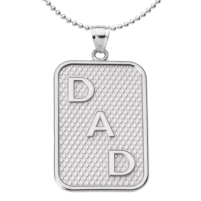 "Sterling Silver ""DAD"" Pendant Necklace"