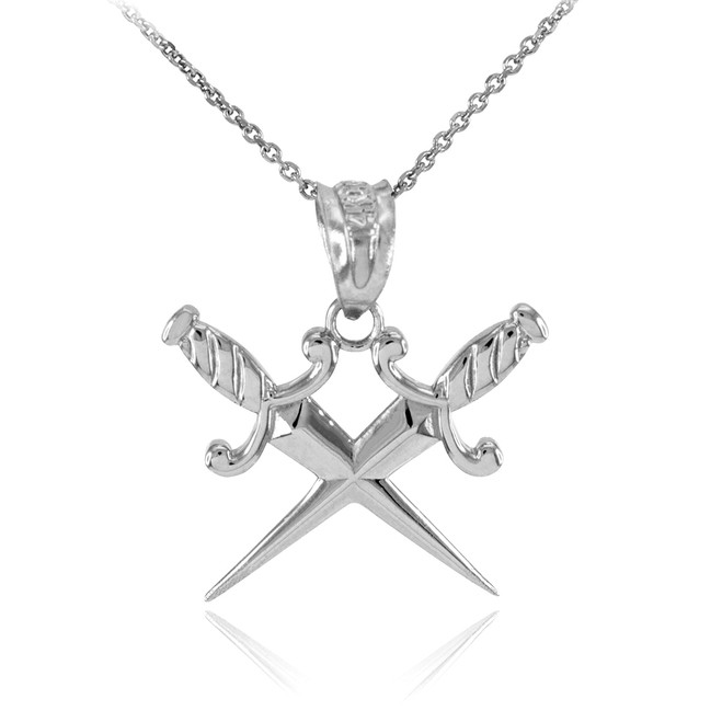 Preferred 925 Sterling Silver Dagger Knife Pendant Necklace HR64