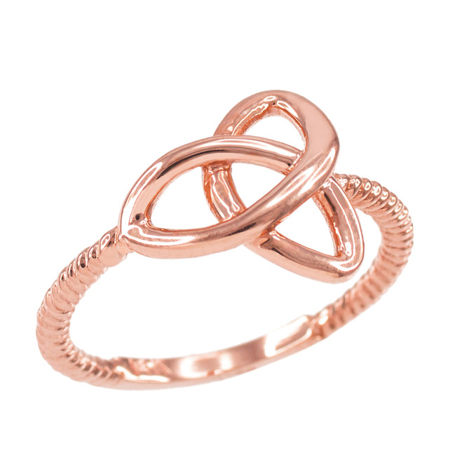 Rose Gold Ladies Trinity Ring