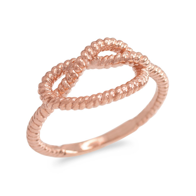 Rose Gold Knot Promise Ring