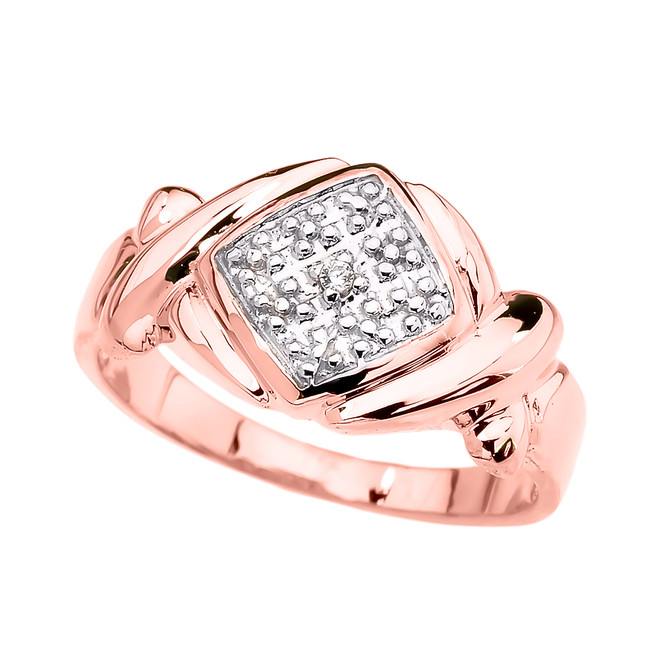 Rose Gold Love Hugs and Kisses (XOXO) Unisex Ring