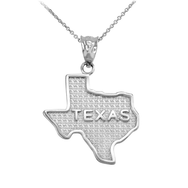 Sterling Silver Texas State Map Pendant