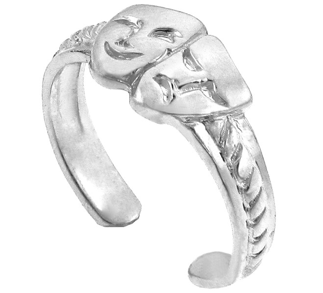 Silver Drama Toe Ring