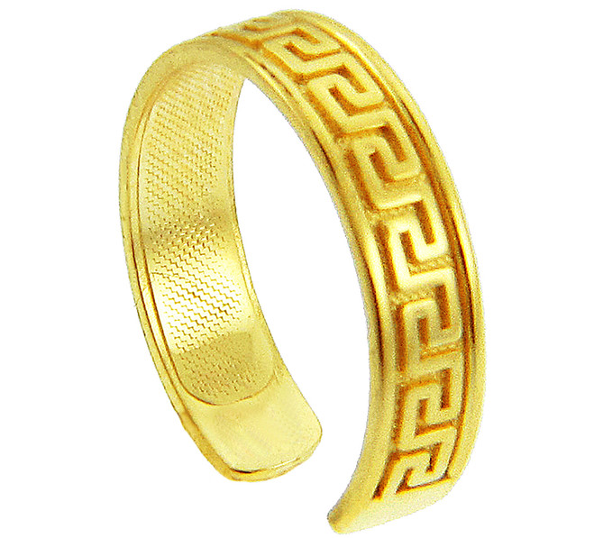 Yellow Gold Greek Key Toe Ring