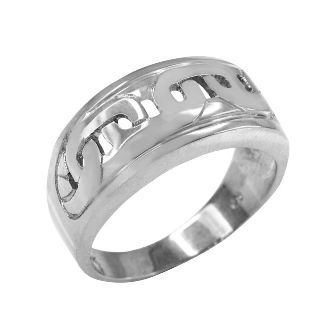 Sterling Silver Mariner Link Pattern Ring