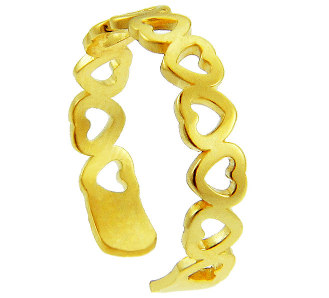 Yellow Gold Heart Shaped Toe Ring
