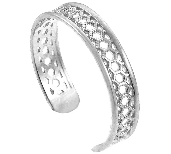 White Gold Chainmail Toe Ring