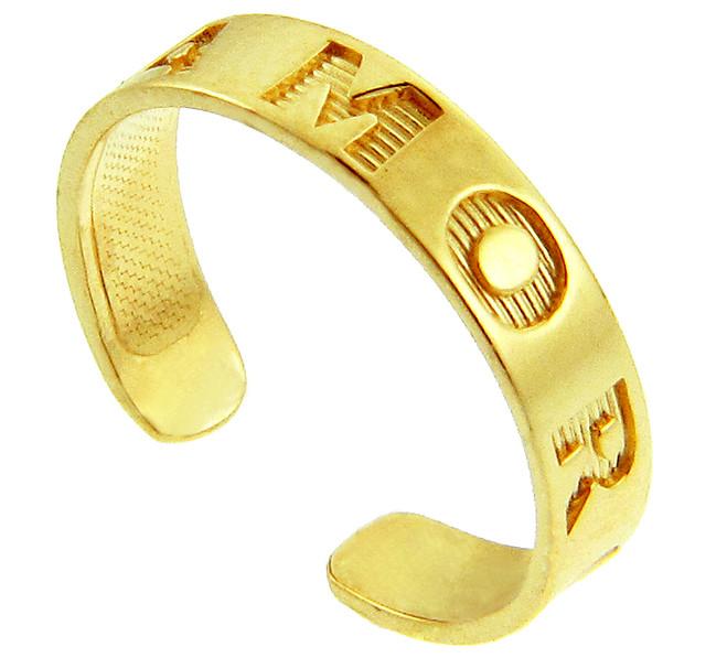 Yellow Gold AMOR Toe Ring