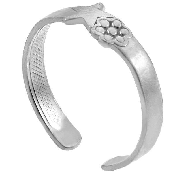 Star White Gold Toe Ring
