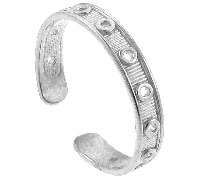 Silver Designer Toe Ring