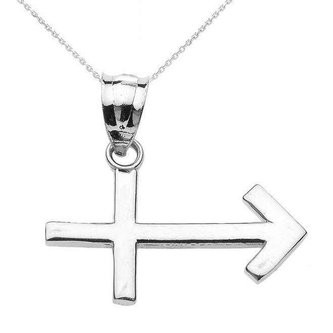 Sterling Silver Sagittarius December Zodiac Sign Pendant Necklace