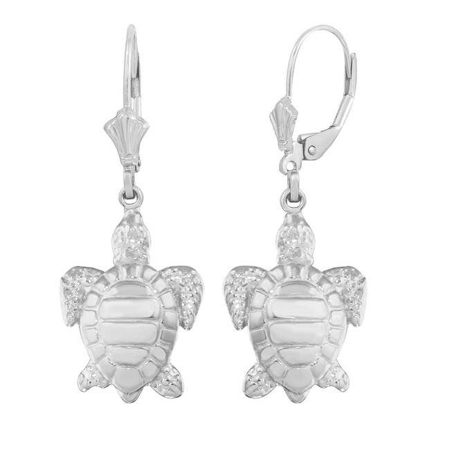Sterling Silver Sea Turtle Earring Set (small)