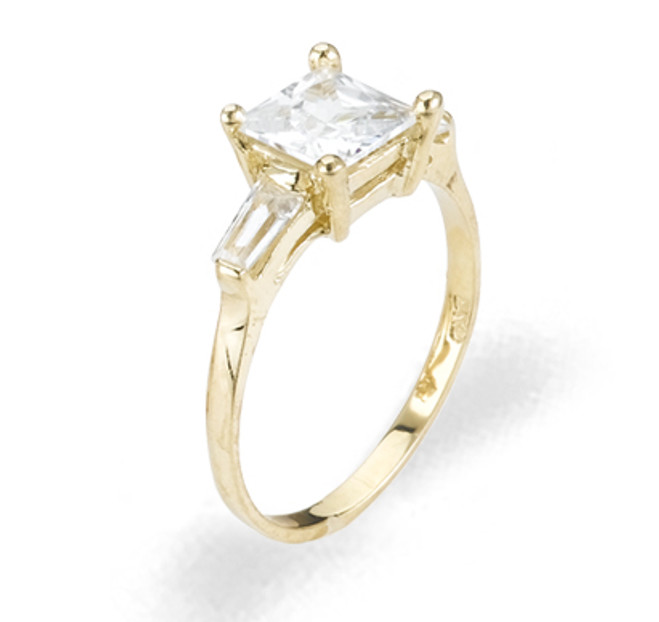 Ladies Cubic Zirconia Ring - The Vivianne Diamento