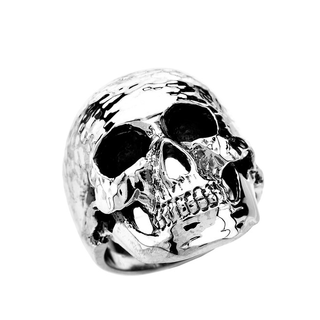 Sterling Silver Classic Skull Wide Cast Ring