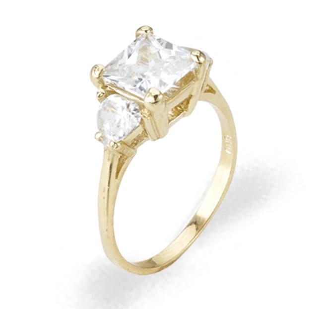 Ladies Cubic Zirconia Ring - The Gena Diamento