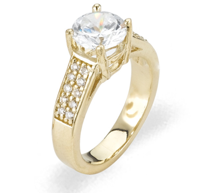 Ladies Cubic Zirconia Ring - The Rayna Diamento