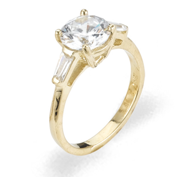 Ladies Cubic Zirconia Ring - The Yakira Diamento