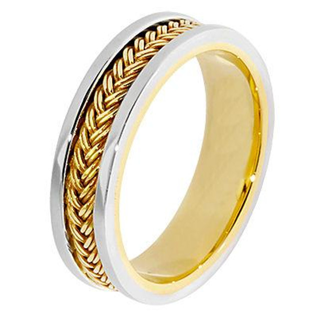 Gold Wedding Band Hand Braided