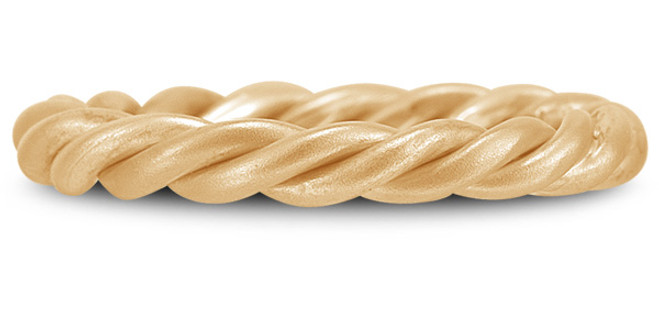 Gold Twisted Rope Wedding Band